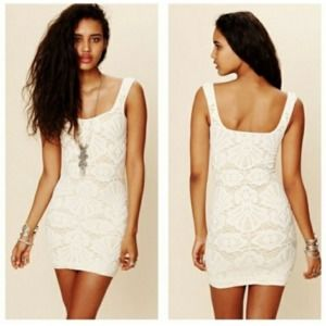 Free People Intimately crocheted body con dress